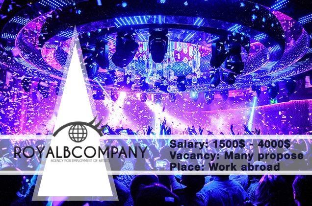Работа за границей для танцовщиц разных жанров! Work Abroad for dancers different styles!