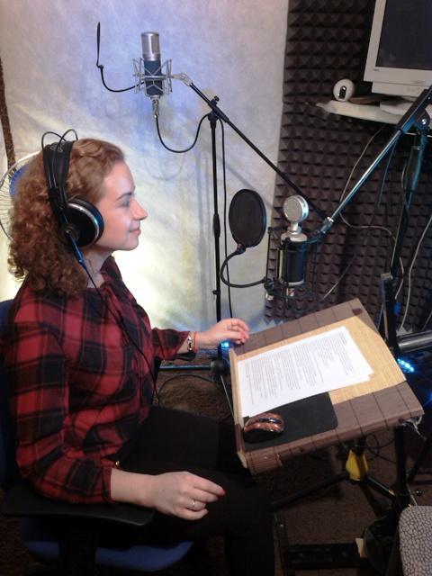 Запись актёрского аудио-портфолио на студии звукозаписи LSStudio в Москве.