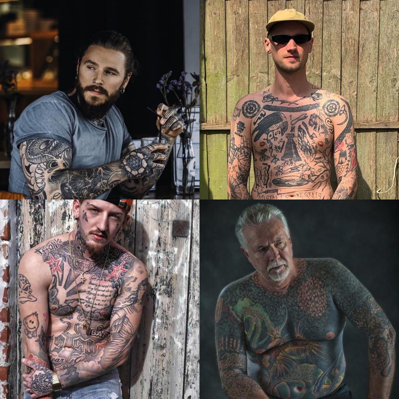 Мужчина с татуировками 35-50 лет