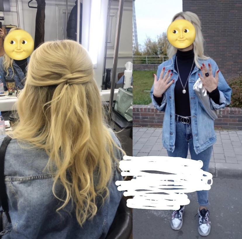 Женщина блондинка, дублер